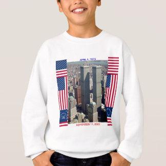 World Trade Center-Komplex und US-Flaggen Sweatshirt