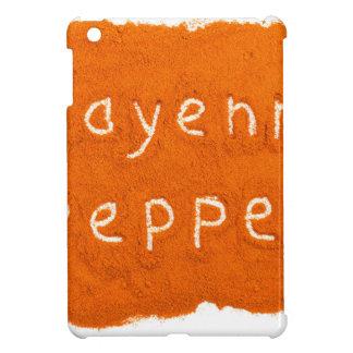 Wort-Cayenne-Pfeffer geschrieben in Pulver iPad Mini Hülle