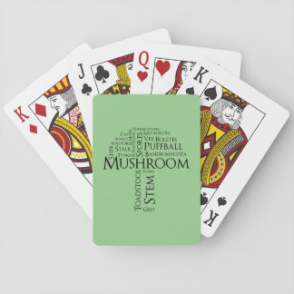 Wort-Pilz-klassische Spielkarten (schwarzer Text)