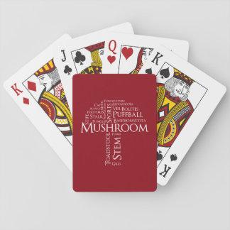 Wort-Pilz-klassische Spielkarten (weißer Text)
