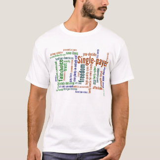 Wort-Wolken-T - Shirt