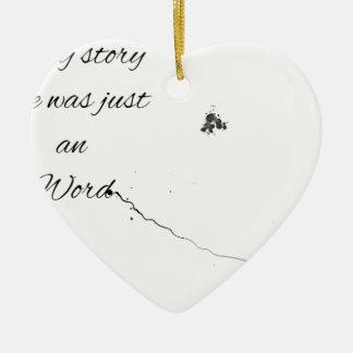 Wort-Zitat Keramik Ornament