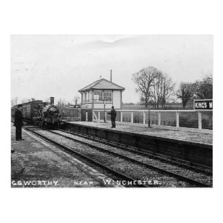 Worthy Königs Bahnhofs-Vintage Postkarte