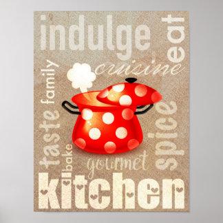 Wortkunst-Küchenplakat Kitcken Plakats   Poster