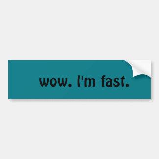 wow schneller Autoaufkleber im