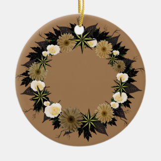 "Wreath-""dunkler Stern-"" Keramik Ornament"