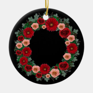 "Wreath-""Kiefern-Kegel-"" rote Keramik Ornament"