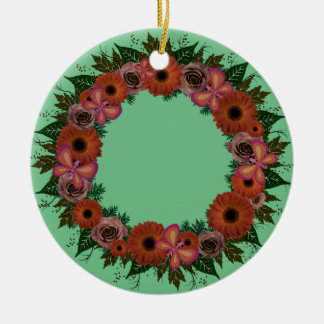 "Wreath-""staubiger Schmetterlings-"" Keramik Ornament"