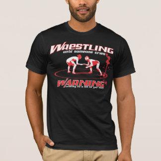Wrestling bis jemand schreit mit Blut-Spritzer T-Shirt