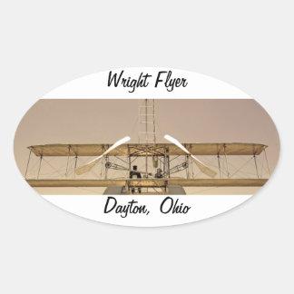 Wright-Flyer-Flugzeuge Ovaler Aufkleber