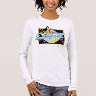 Wunder-Frau mit Jet Langärmeliges T-Shirt