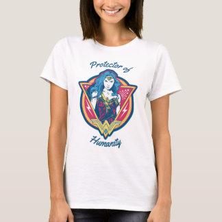 Wunder-Frau Tri Farbegraphik T-Shirt