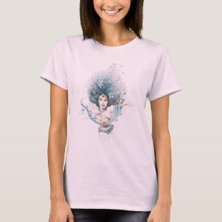 Wunder-Frau und Blumen T-Shirt