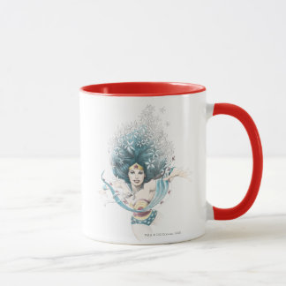 Wunder-Frau und Blumen Tasse