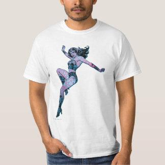 Wunder-Frauen-bunte Pose T-Shirt