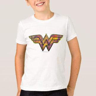 Wunder-Frauen-buntes Logo T-Shirt