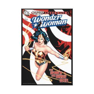 Wunder-Frauen-Comic-Abdeckung #12 Leinwanddruck