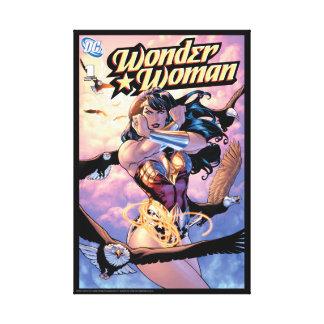 Wunder-Frauen-Comic-Abdeckung #1 Leinwanddruck