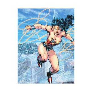 Wunder-Frauen-Dreiheits-Comic-Abdeckung #16 Leinwanddruck