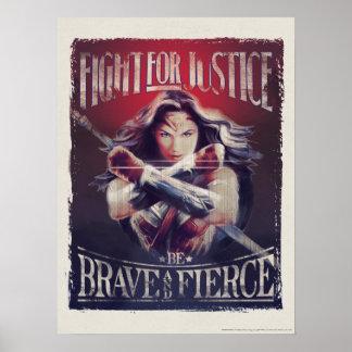 Wunder-Frauen-Kampf für Gerechtigkeit Poster
