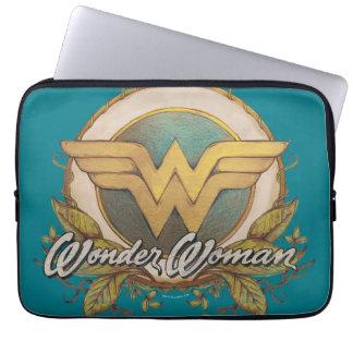 Wunder-Frauen-Laub-Skizze-Logo Computer Sleeve Schutzhüllen