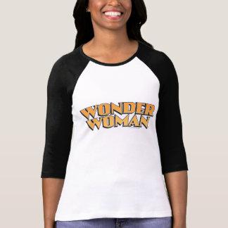 Wunder-Frauen-Orangen-Logo T-Shirt
