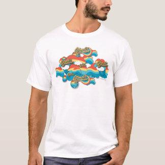 Wunder-Frauen-Regenbogen bewölkt Muster T-Shirt