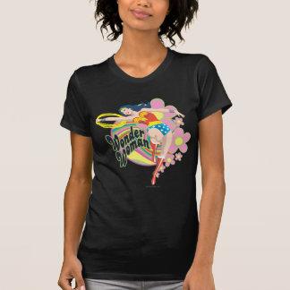 Wunder-Frauen-Retro Blumen T-Shirt