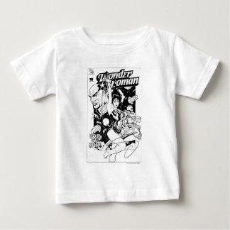 Wunder-Frauen-Rückkehr des Khundi B&W Baby T-shirt