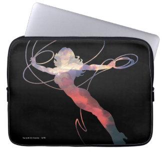 Wunder-Frauen-Sonnenuntergang-Himmel-Silhouette Computer Sleeve Schutzhülle
