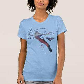 Wunder-Frauen-Sonnenuntergang-Himmel-Silhouette T-Shirt