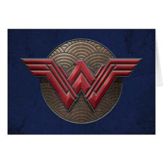Wunder-Frauen-Symbol über konzentrischen Kreisen Karte