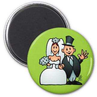 Wunderbare Hochzeit Runder Magnet 5,7 Cm