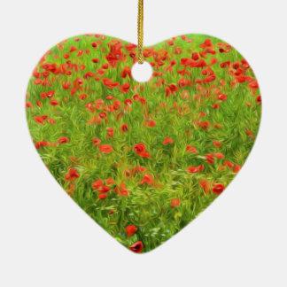 Wunderbare Mohnblumen-Blumen VII - Wundervolle Keramik Ornament