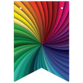 Wunderbarer heller Regenbogen-Strudel Wimpelketten