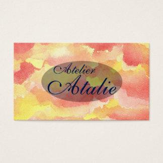 Wunderliche Aquarell-Visitenkarten Visitenkarten