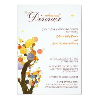 Wunderliche Bäume, die Proben-Abendessen Wedding 12,7 X 17,8 Cm Einladungskarte