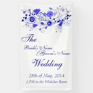 Wunderliche Marine-Blau-Hochzeits-Fahne Banner