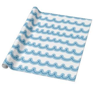 Wunderliche Ozean-Wellen Geschenkpapier