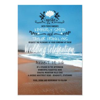 Wunderliche Strand-Hochzeits-Einladung Karte