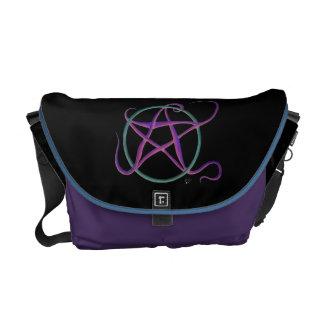 Wunderliche Tanzen-Pentagramm-Bote-Tasche Kuriertaschen