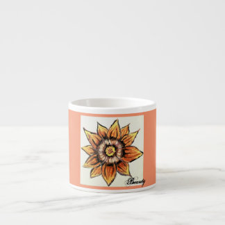 Wunderliche Tiger-Blumen-Schönheit Espressotasse
