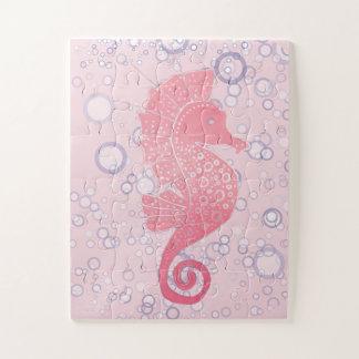 Wunderliche und entzückende Seepferd-Grafik Puzzle