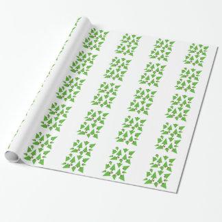 Wunderliche Weihnachtsbäume Geschenkpapier