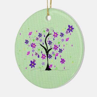 Wunderlicher Baum Rundes Keramik Ornament