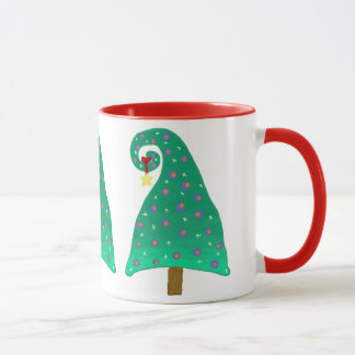 Wunderlicher grüner Weihnachtsbaum Tasse