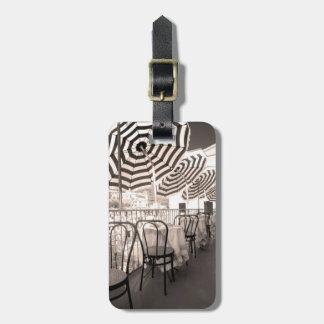 Wunderlicher Restaurantbalkon, Italien Gepäckanhänger