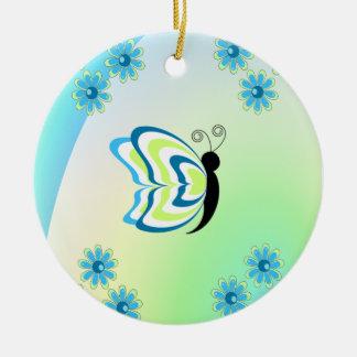 Wunderlicher Schmetterling Keramik Ornament