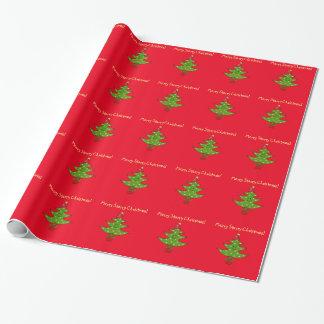Wunderlicher Stern-Baum Geschenkpapier