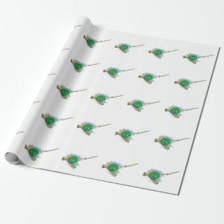 Wunderliches antikes Fischen-Spulen-Packpapier Geschenkpapier